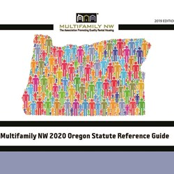 2020 Oregon Statute - Reference Guide