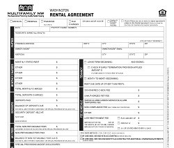 Washington Rental Agreement (Multifamily Apartment) M001 WA [Single Copy]