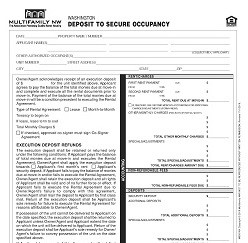 Washington Deposit to Secure Occupancy M003 WA [Single Copy]