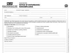 Washington Notice of Disturbance/Noncompliance M017 WA [Packet of 25]