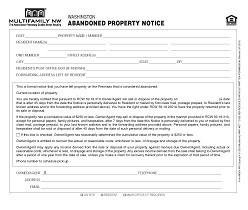 Washington Abandoned Property Notice M024 WA [Single Copy]