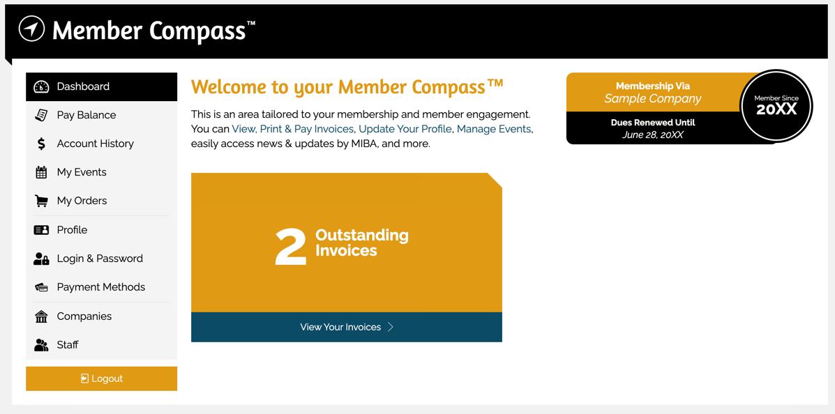 MIBA Member Compass