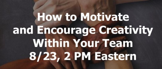 eNATOA: How to Motivate and Encourage Creativity Within Your Team