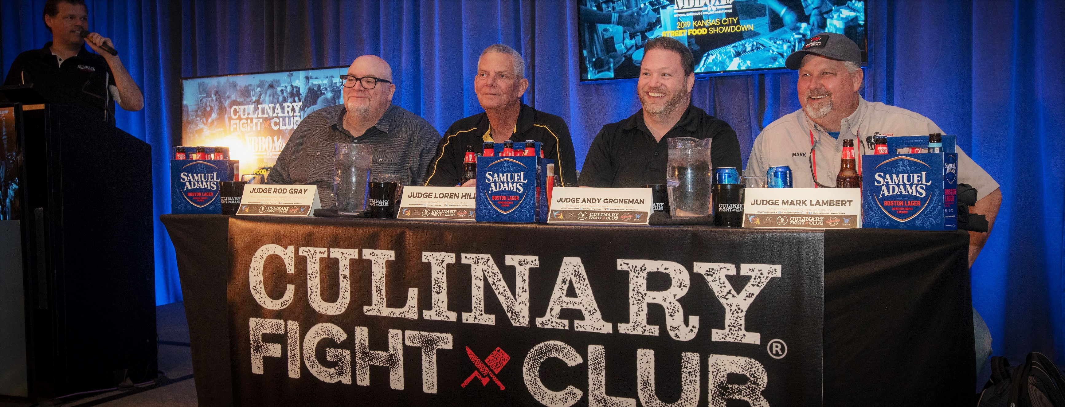 2019 Culinary Fight Club judges awaiting the team's entries