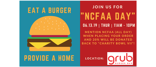 NCFAA DAY at Grub Burger Bar!