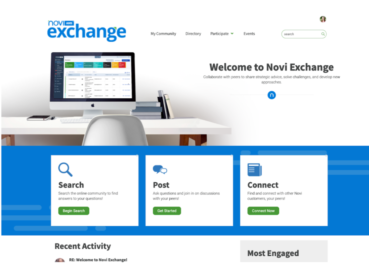Homepage for Novi Excahge