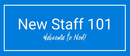 New Staff Member 101