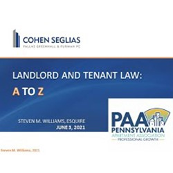 Recorded Landlord Tenant Law A to Z
