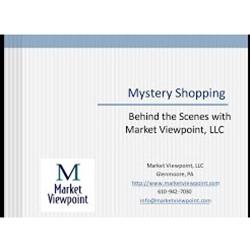 Recorded Mystery Shop Webinar