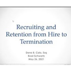 Recorded Recruiting and Retention from Hire to Termination