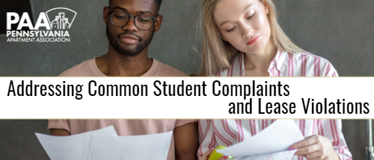 Addressing Common Student Complaints and Leasing Violations 2022