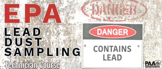 Lead Dusting - EPA Certification (Fall 2022 - Philadelphia)