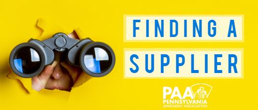 Finding a Supplier