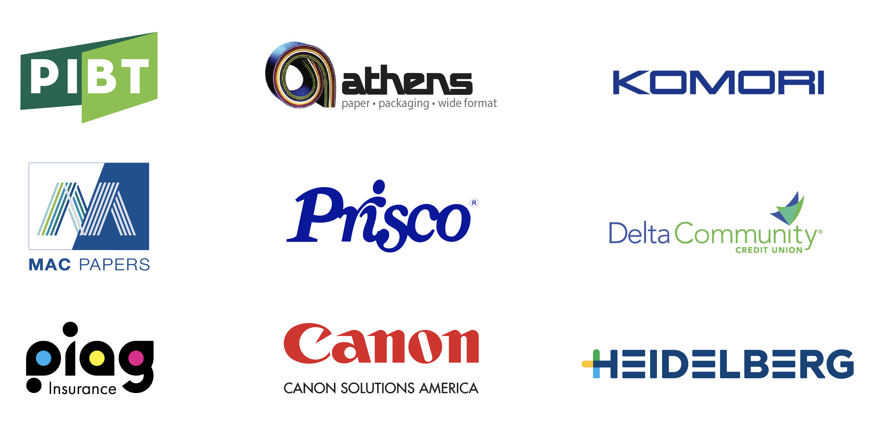 2020 PIAG imPRESS Sponsors
