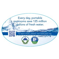 Water Saving Decal-unit size Qty. 500