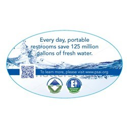 Water Saving Decal-unit size Qty. 100