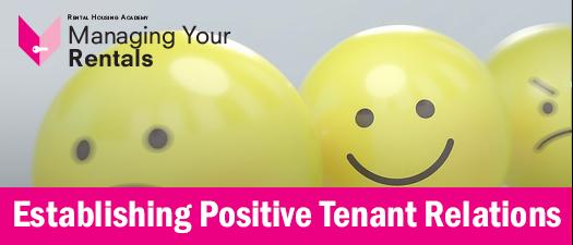Establishing Positive Tenant Relations