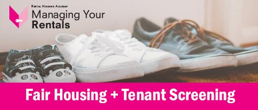 Fair Housing and Tenant Screening