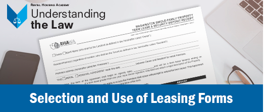Selection and Use of New Leasing Forms