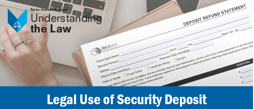 Legal Use of Security Deposit