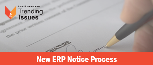 New ERP Notice Process