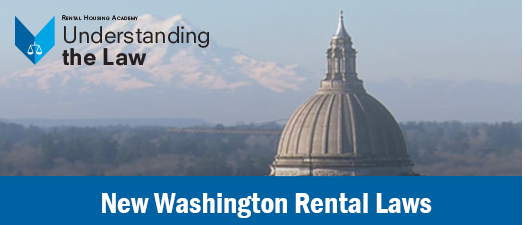 New Washington Rental Laws I ONLINE ONLY