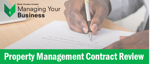 Property Management Contract Review