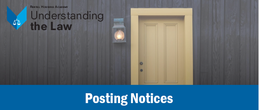 Posting Notices