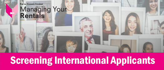 Screening International Applicants