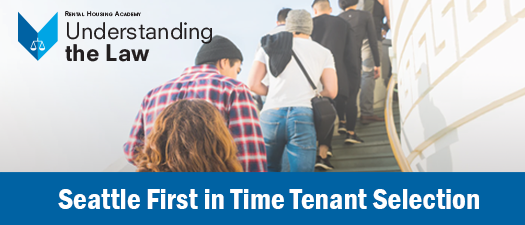 Seattle First in Time Tenant Selection - ONLINE ONLY