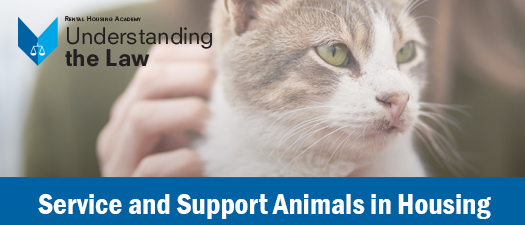 Service and Support Animals in Housing Webinar