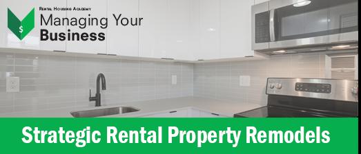 Strategic Rental Property Remodels