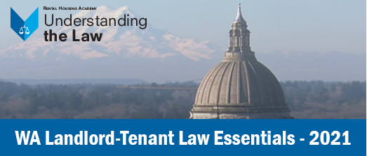 WA Landlord-Tenant Law Essentials - 2021 (CRE 3hrs)