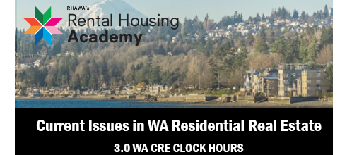Current Issues in WA Residential Real Estate