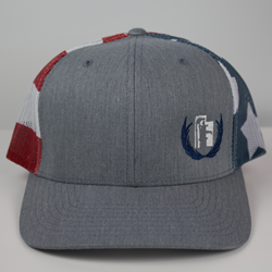 Grey American Flag Hat