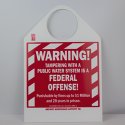 Hanging Warning Sign