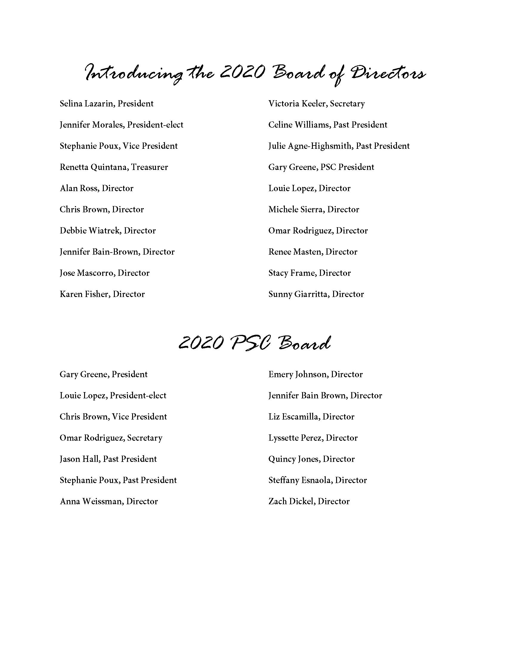 Board & PSC