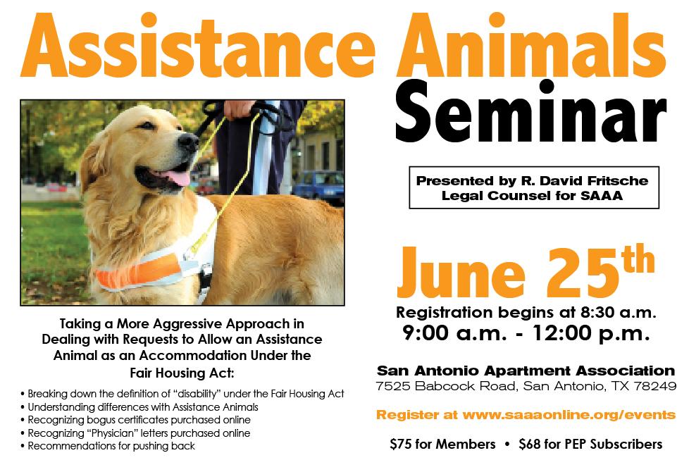 Assitance Animals June 2020