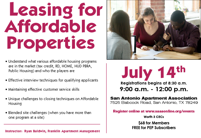 Leasing for Affordable Properties 2020