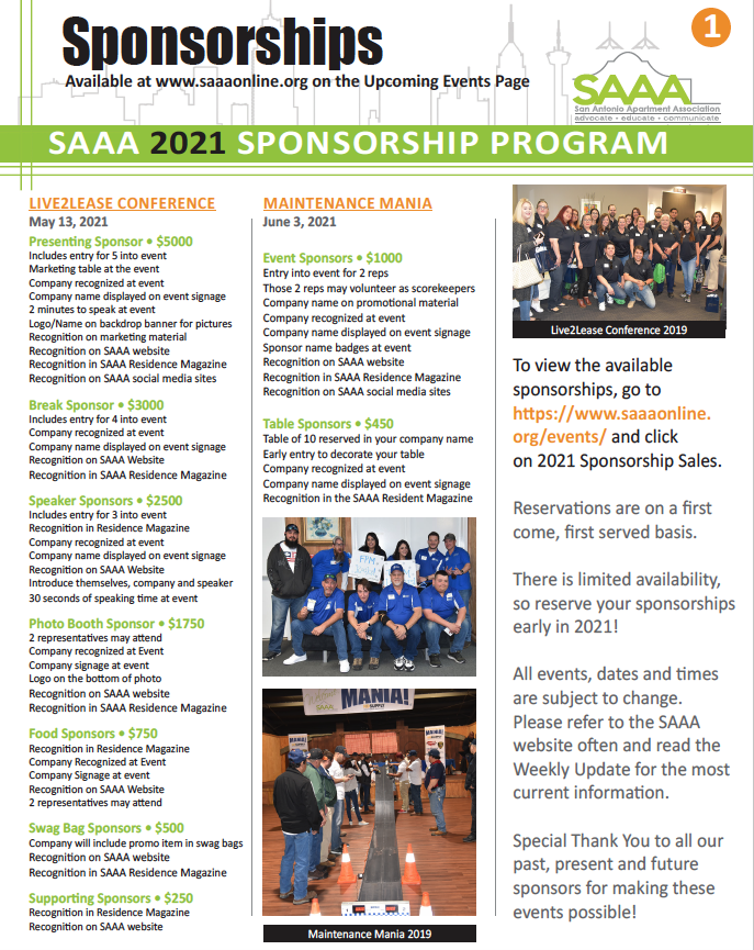 2021 Sponsorship page 1