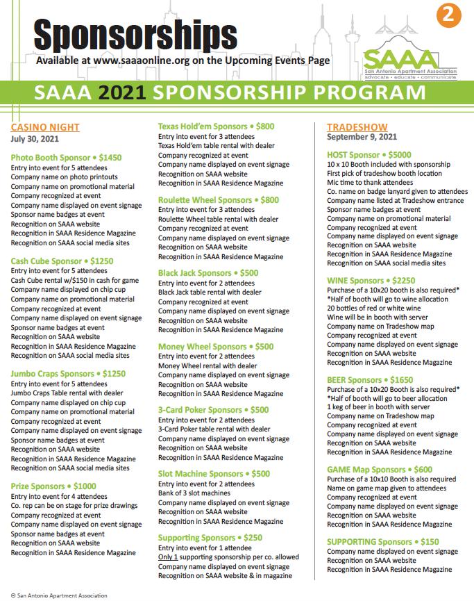 2021 Sponsorship page 2