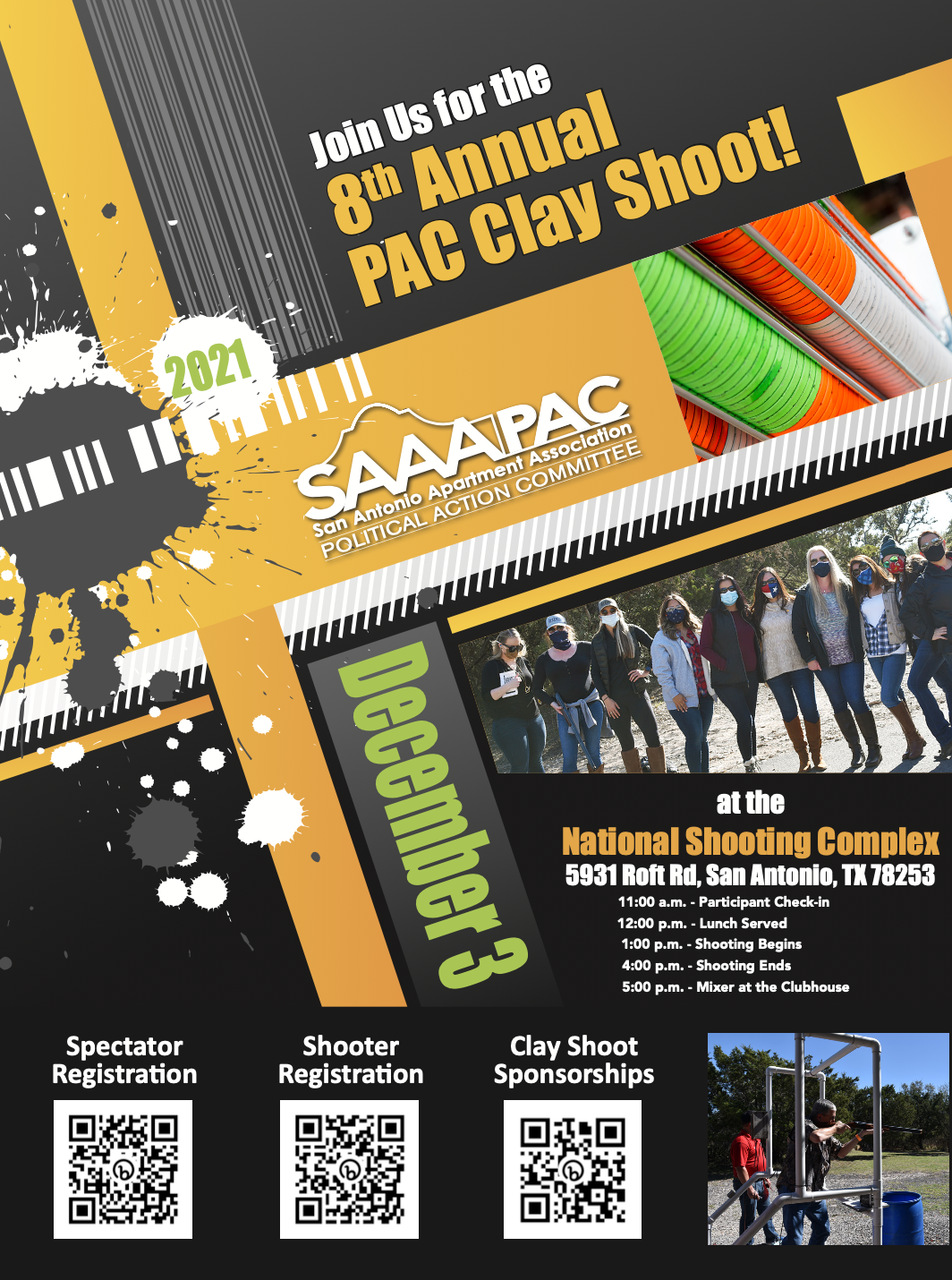 PAC Clay Shoot flyer