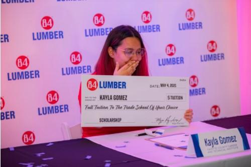 84 lumber scholarship recipients