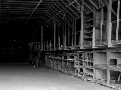 Old photo of inside of a building