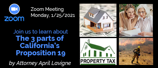 Zoom Meeting: Special Presentation on Prop 19