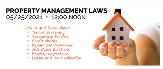 5-25-2021 Property Management Laws