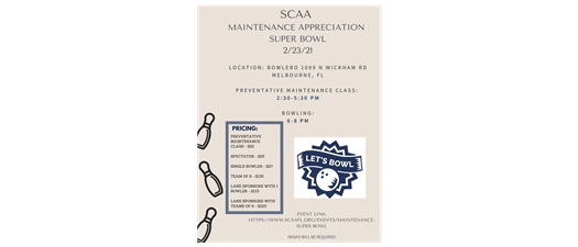 Maintenance Appreciation Super Bowl & NEW Preventative Maintenance Class