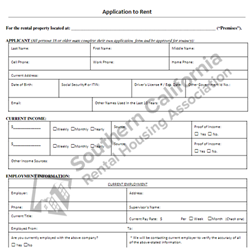 Digital #110 Application to Rent