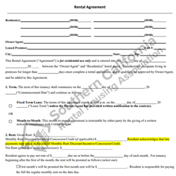 Digital #200Agreement to Rent
