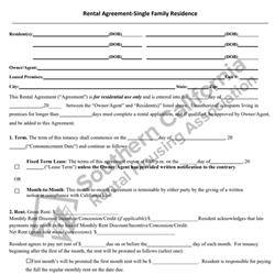Digital #200SFRAgreement to Rent